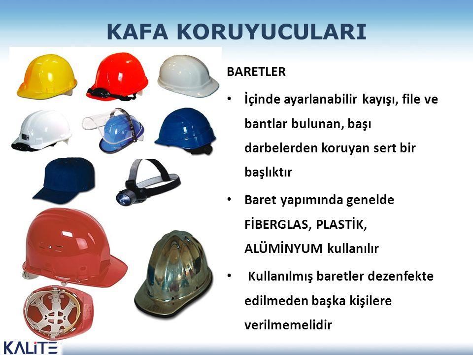 KAFA KORUYUCULARI BARETLER