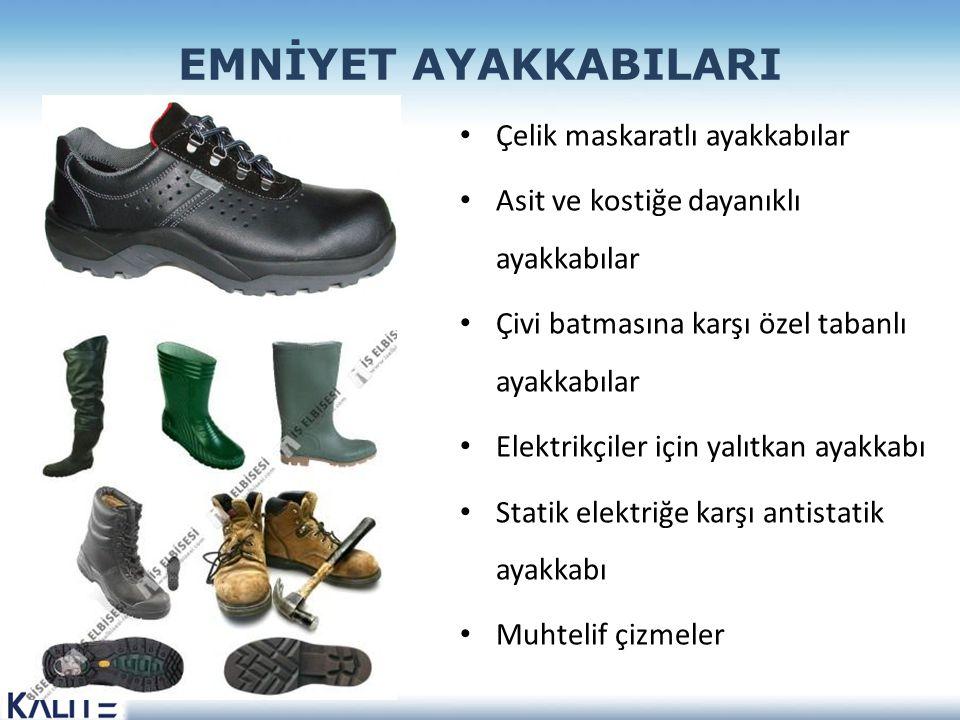 EMNİYET AYAKKABILARI Çelik maskaratlı ayakkabılar