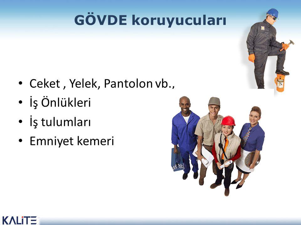 GÖVDE koruyucuları Ceket , Yelek, Pantolon vb., İş Önlükleri İş tulumları Emniyet kemeri
