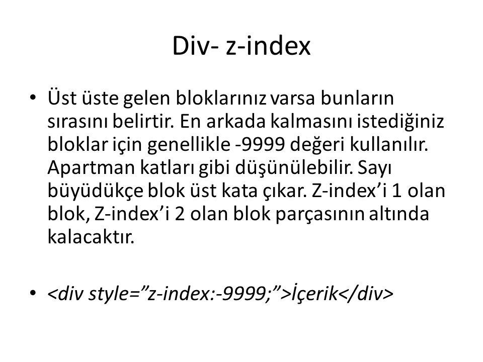 Div- z-index