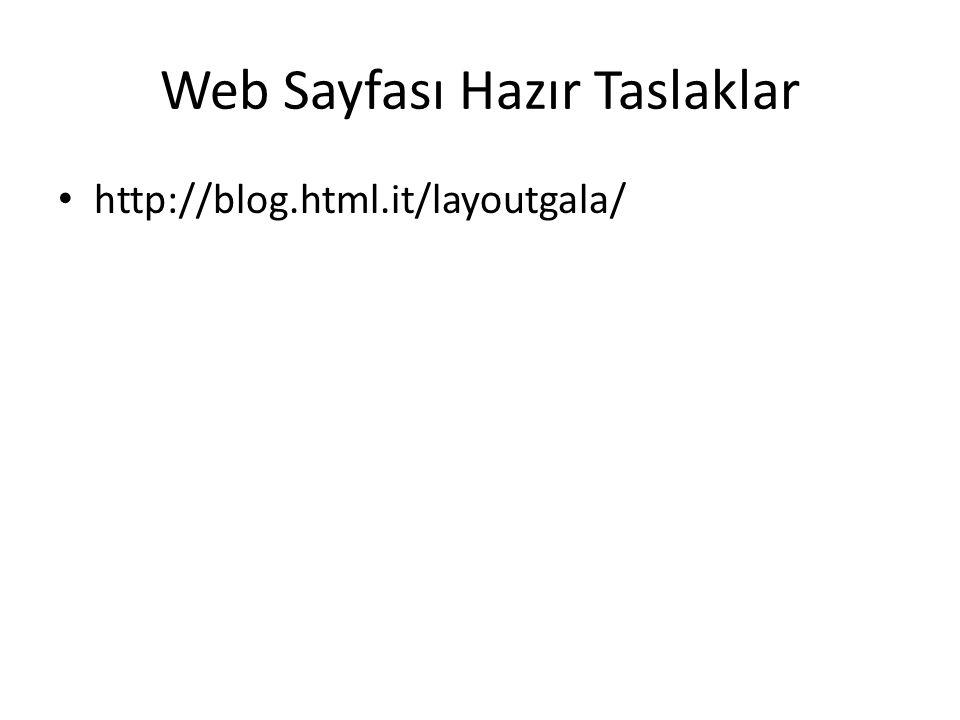 Web Sayfası Hazır Taslaklar