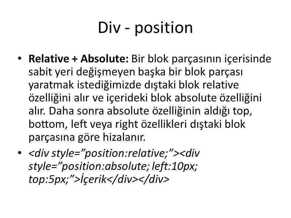 Tablosuz tasar m div ler ppt video online indir - Div style float right ...