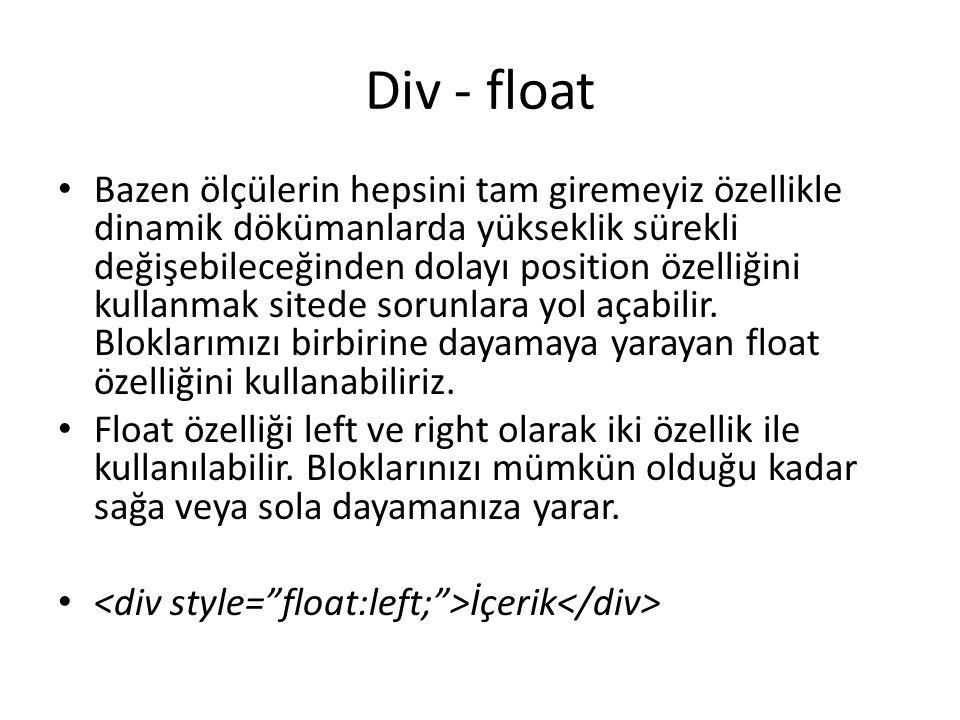 Div - float