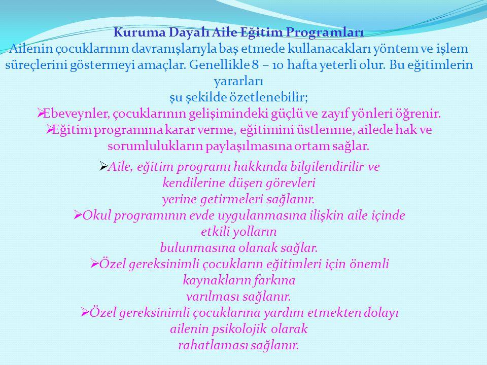 Kuruma Dayalı Aile Eğitim Programları