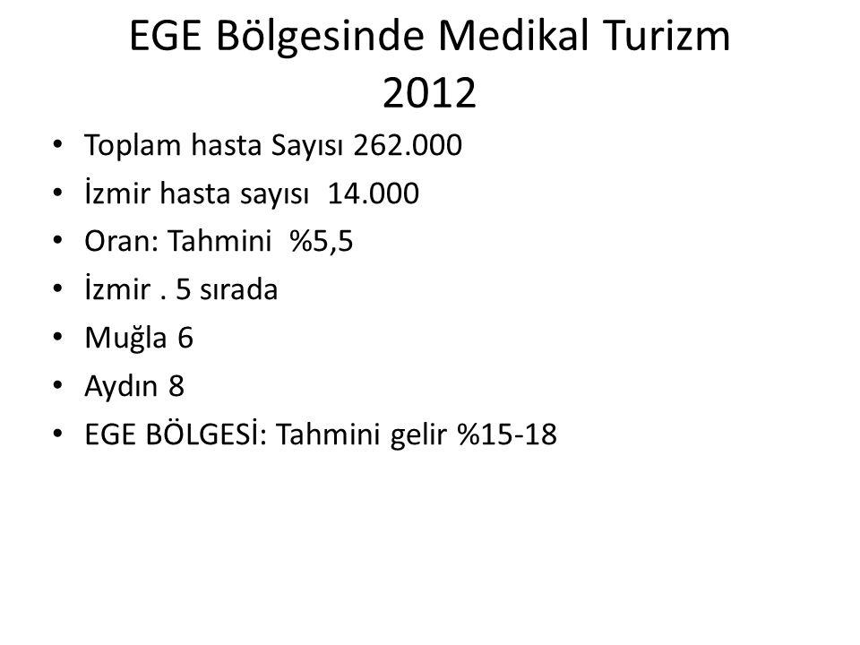 EGE Bölgesinde Medikal Turizm 2012