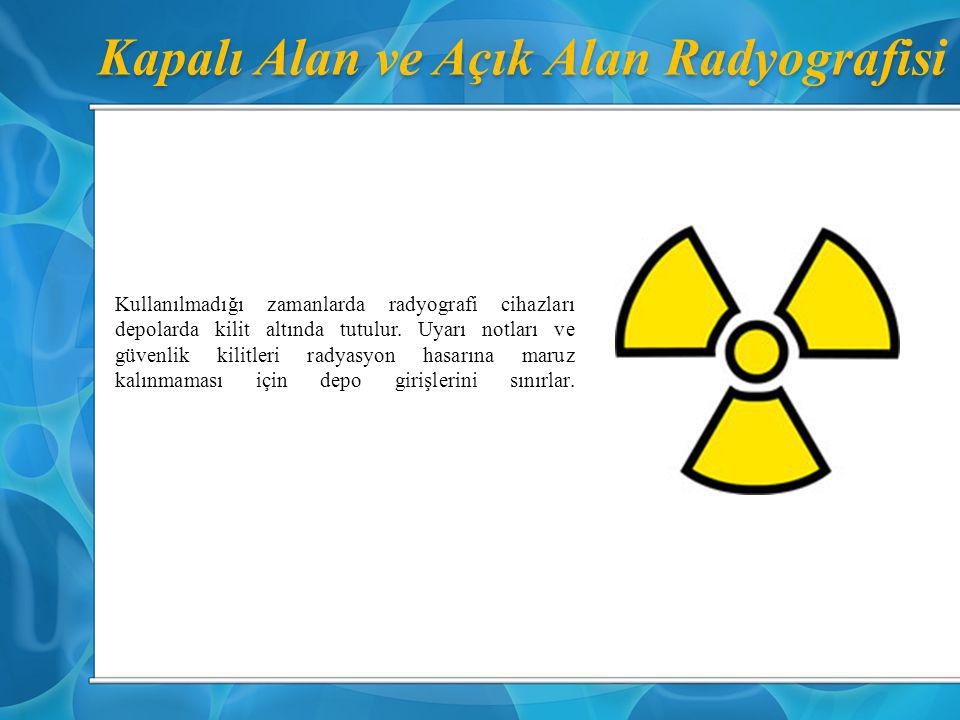 Kapalı Alan ve Açık Alan Radyografisi