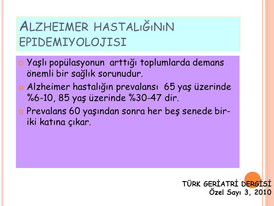Alzheimer hastalığının epidemiyolojisi