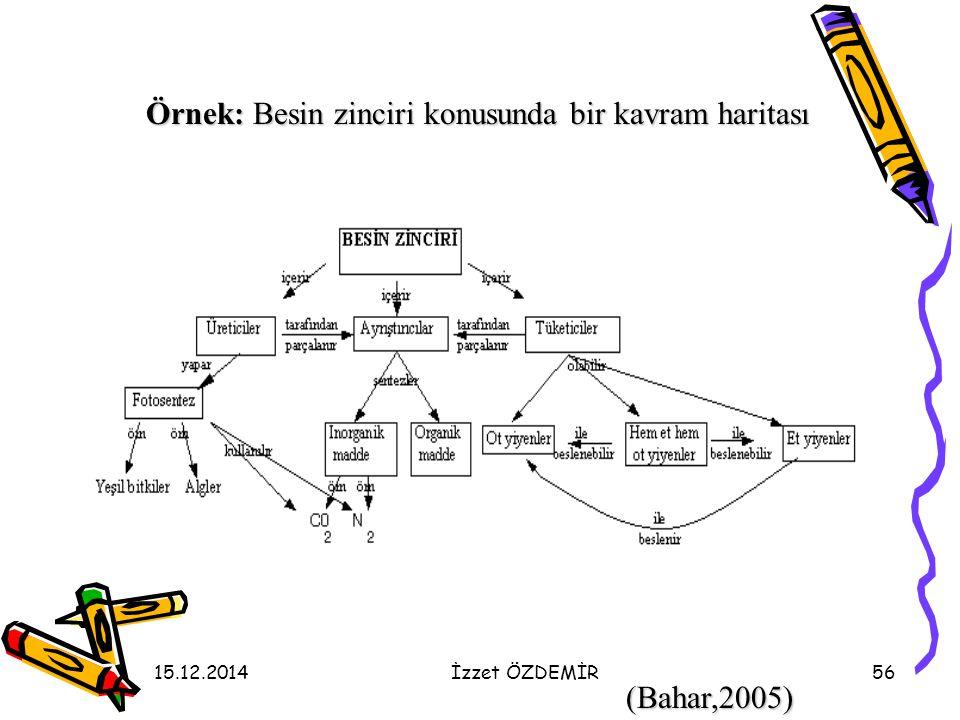 Örnek: Besin zinciri konusunda bir kavram haritası