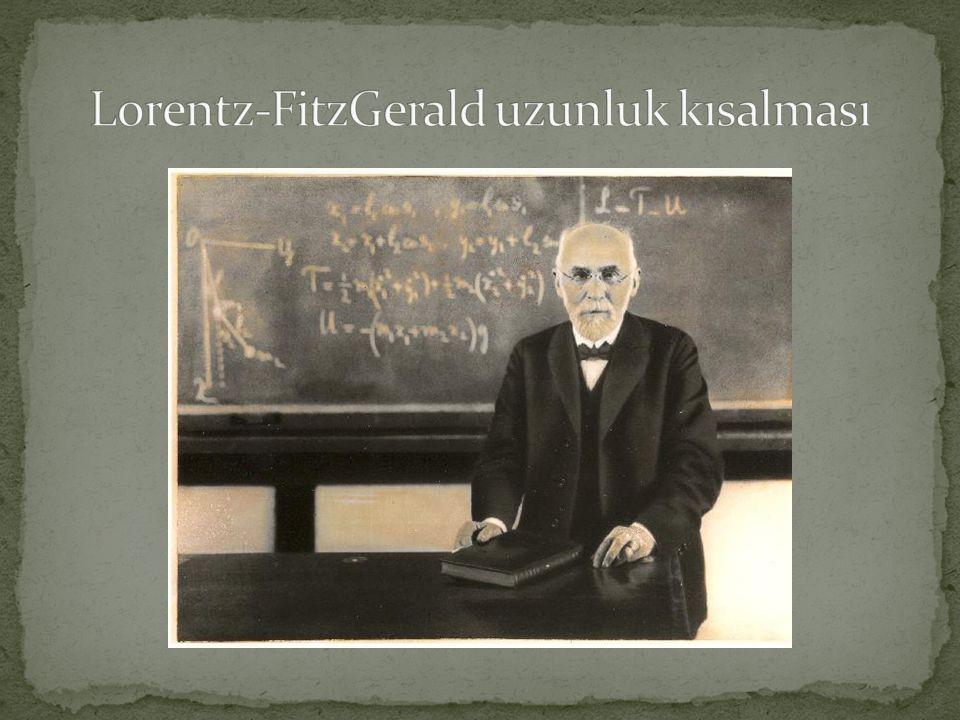 Lorentz-FitzGerald uzunluk kısalması