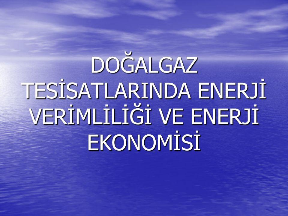 DOĞALGAZ TESİSATLARINDA ENERJİ VERİMLİLİĞİ VE ENERJİ EKONOMİSİ