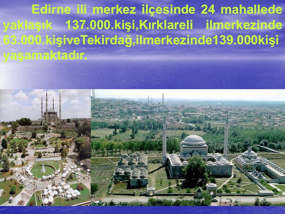 Edirne ili merkez ilçesinde 24 mahallede yaklaşık 137. 000