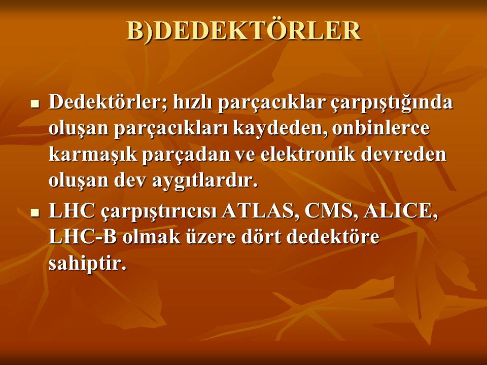 B)DEDEKTÖRLER