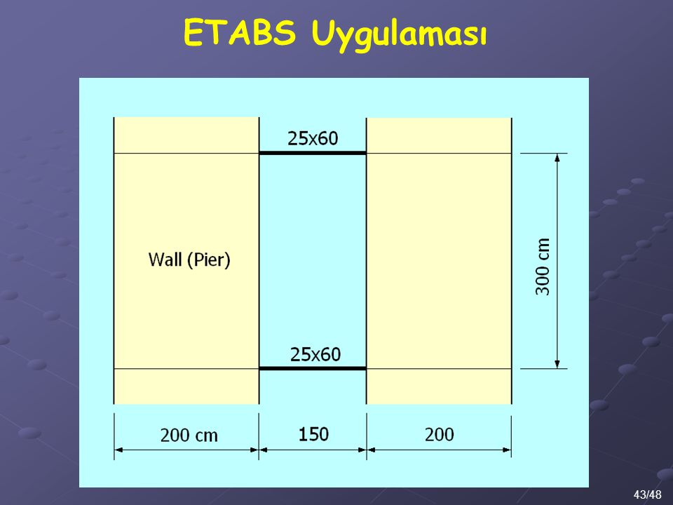 ETABS Uygulaması 43/48