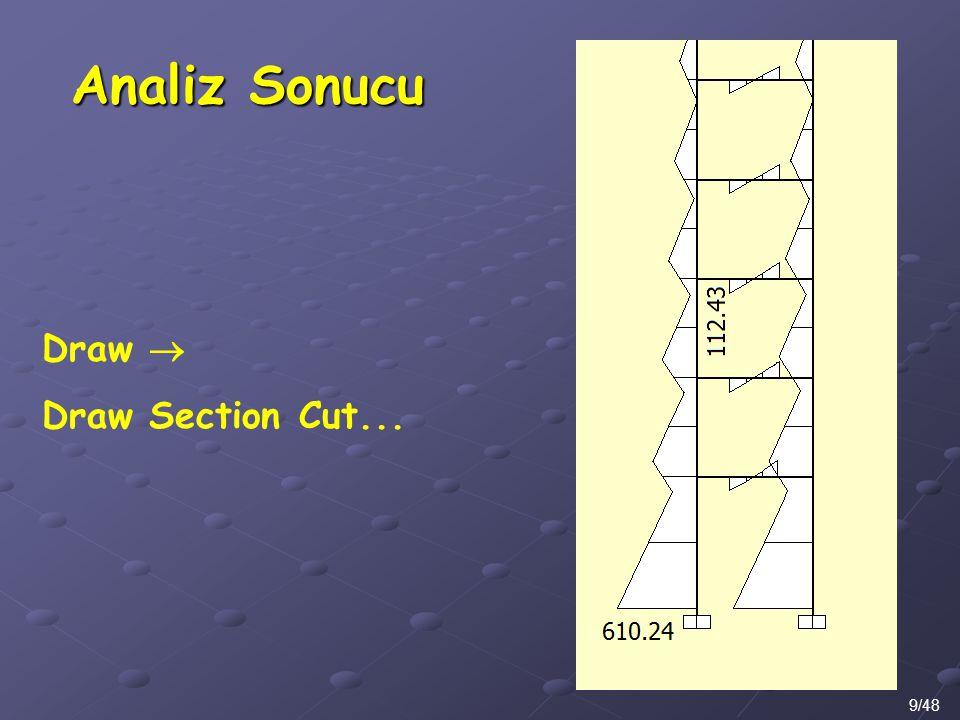 Analiz Sonucu Draw  Draw Section Cut... 9/48