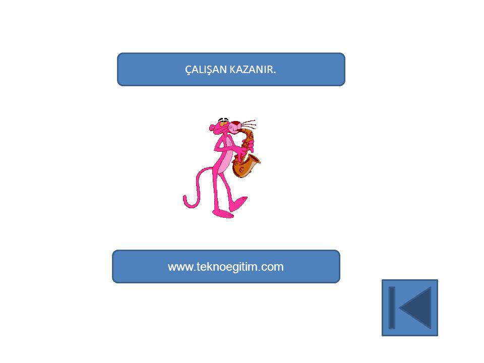ÇALIŞAN KAZANIR. www.teknoegitim.com