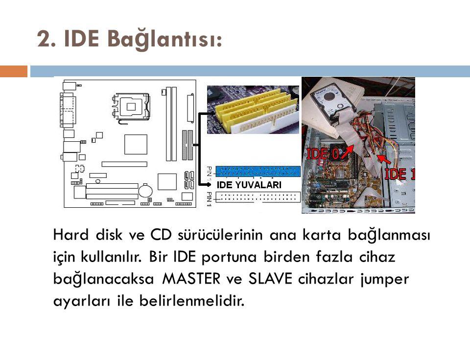 2. IDE Bağlantısı: