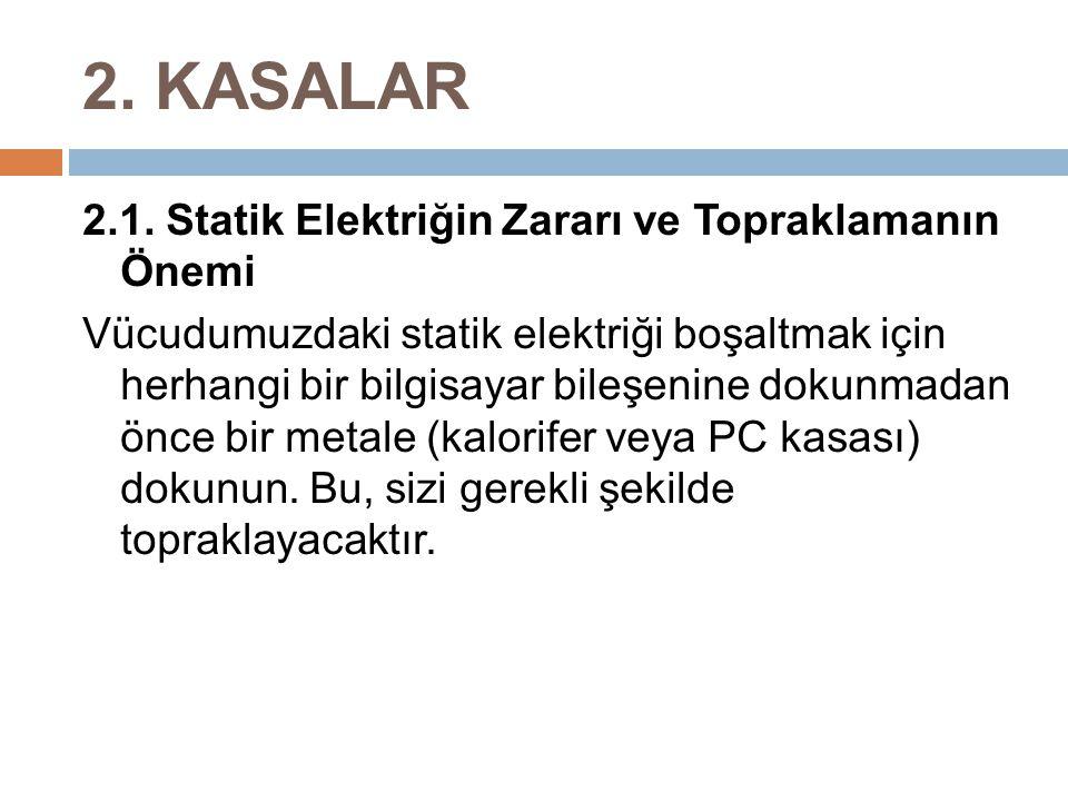2. KASALAR 2.1. Statik Elektriğin Zararı ve Topraklamanın Önemi