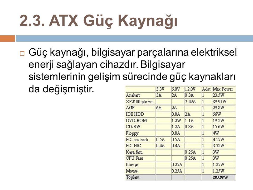 2.3. ATX Güç Kaynağı