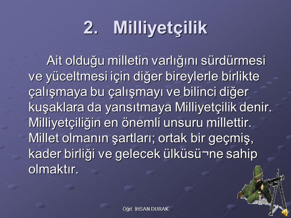 2. Milliyetçilik