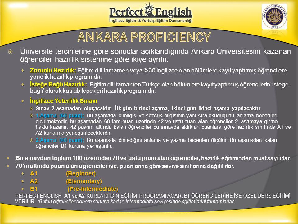 ANKARA PROFICIENCY