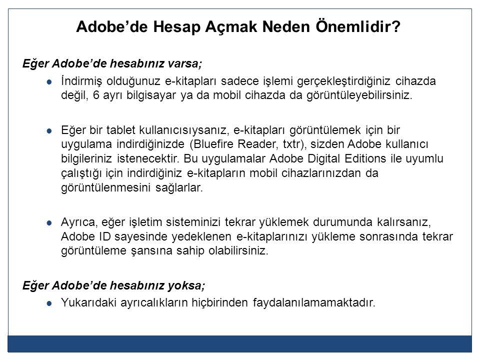 Adobe'de Hesap Açmak Neden Önemlidir