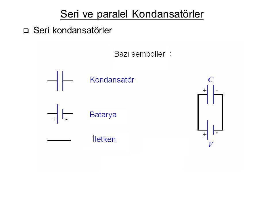 Seri ve paralel Kondansatörler