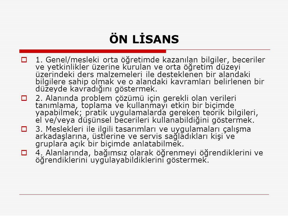 ÖN LİSANS