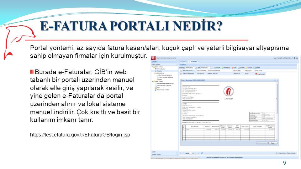 E-FATURA PORTALI NEDİR