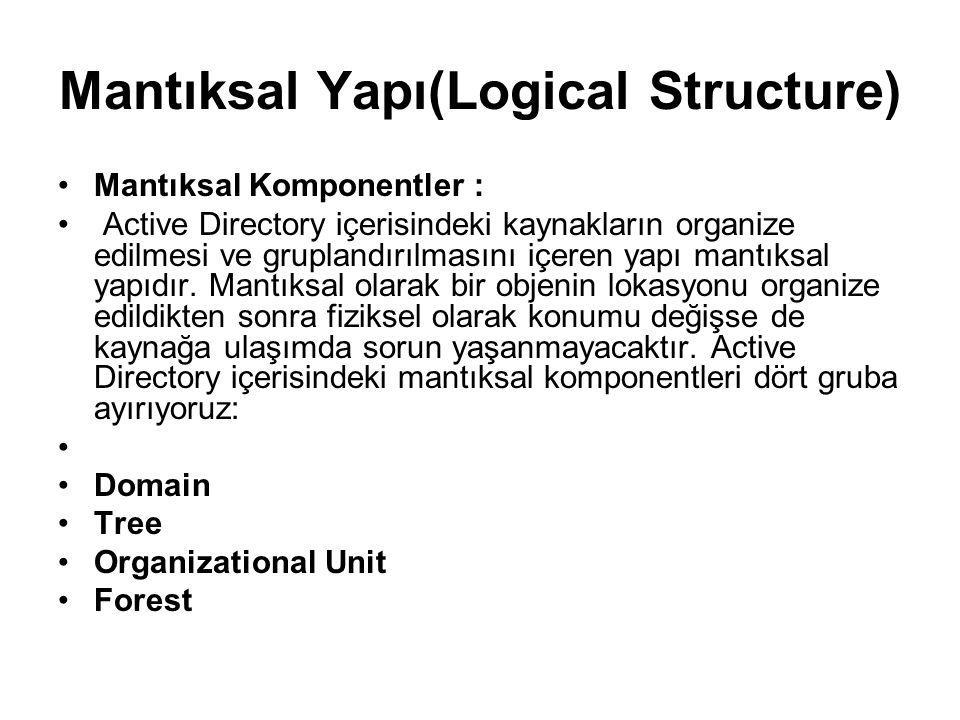 Mantıksal Yapı(Logical Structure)