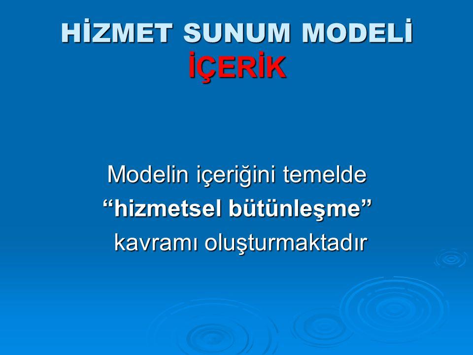 HİZMET SUNUM MODELİ İÇERİK