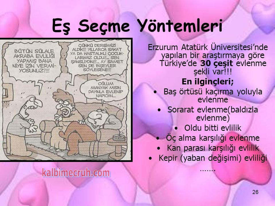 Eş Seçme Yöntemleri kalbimecruh.com