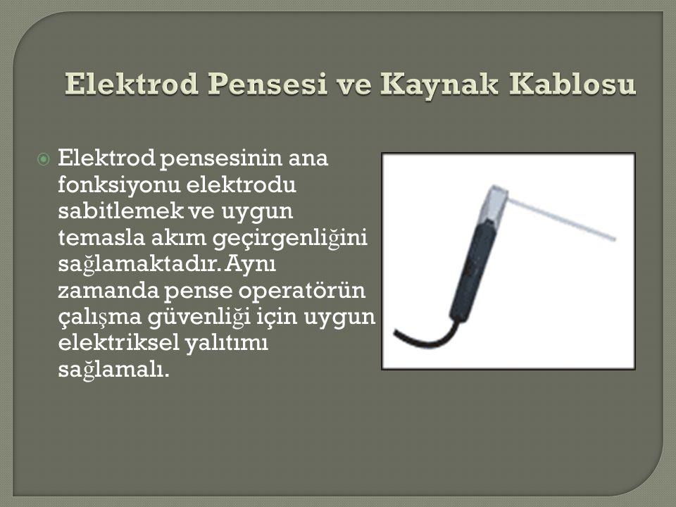 Elektrod Pensesi ve Kaynak Kablosu
