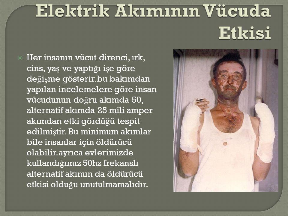 Elektrik Akımının Vücuda Etkisi