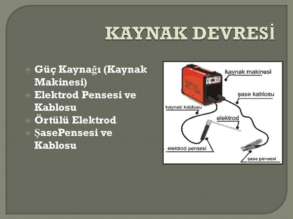 KAYNAK DEVRESİ Güç Kaynağı (Kaynak Makinesi)