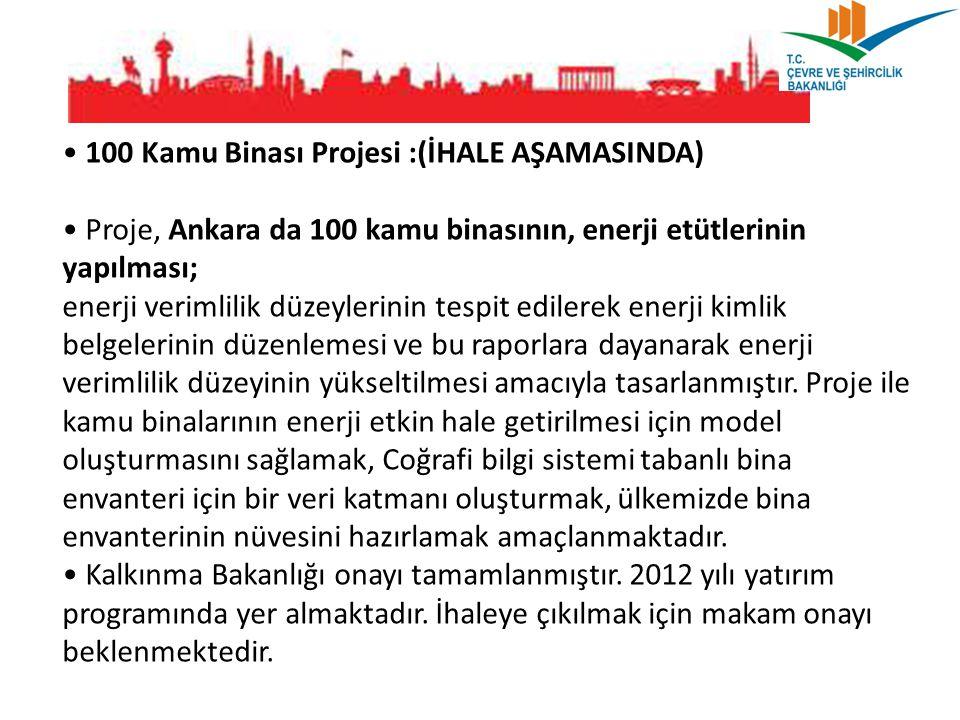 • 100 Kamu Binası Projesi :(İHALE AŞAMASINDA)