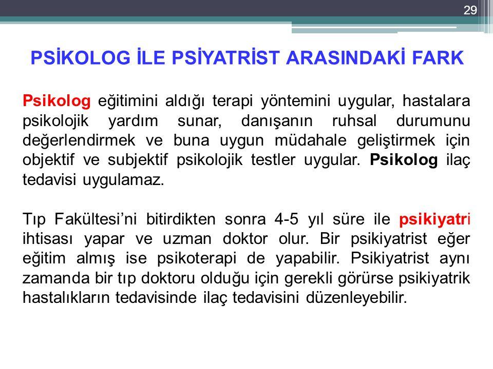 PSİKOLOG İLE PSİYATRİST ARASINDAKİ FARK