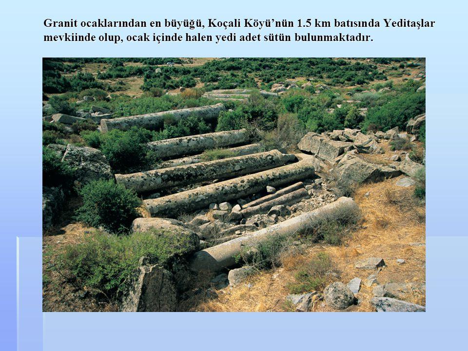 Granit ocaklarından en büyüğü, Koçali Köyü'nün 1