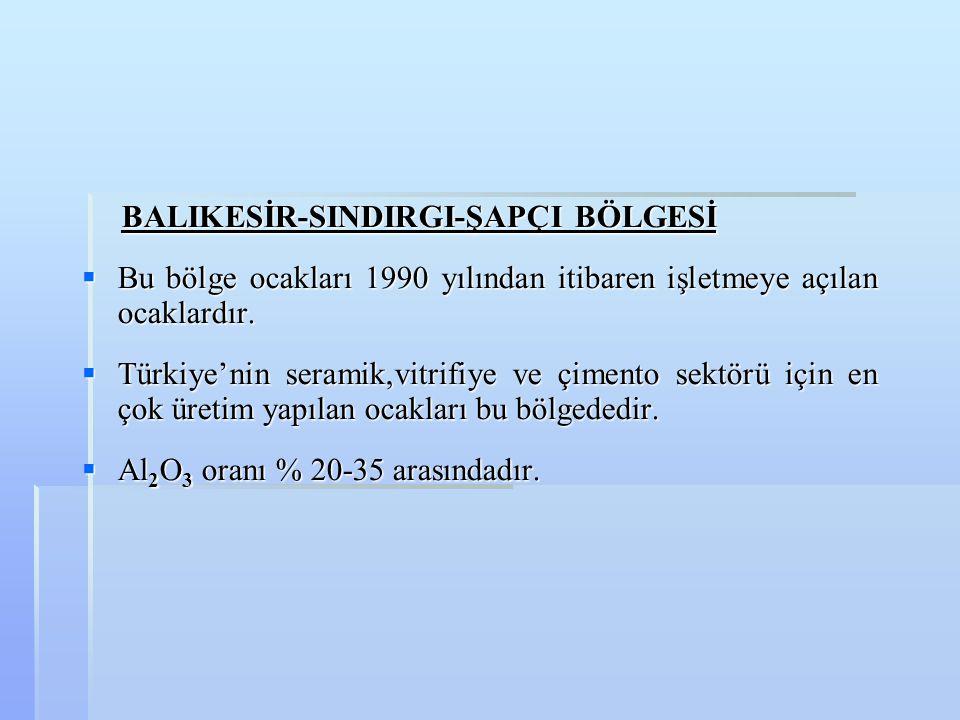 BALIKESİR-SINDIRGI-ŞAPÇI BÖLGESİ