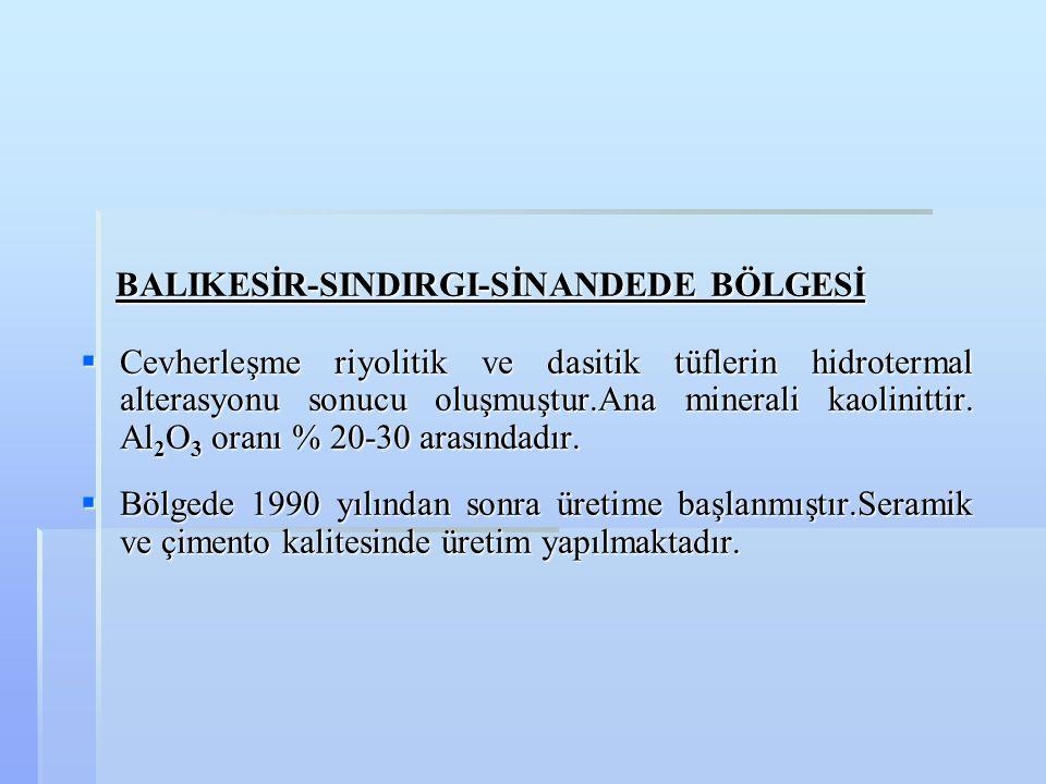 BALIKESİR-SINDIRGI-SİNANDEDE BÖLGESİ