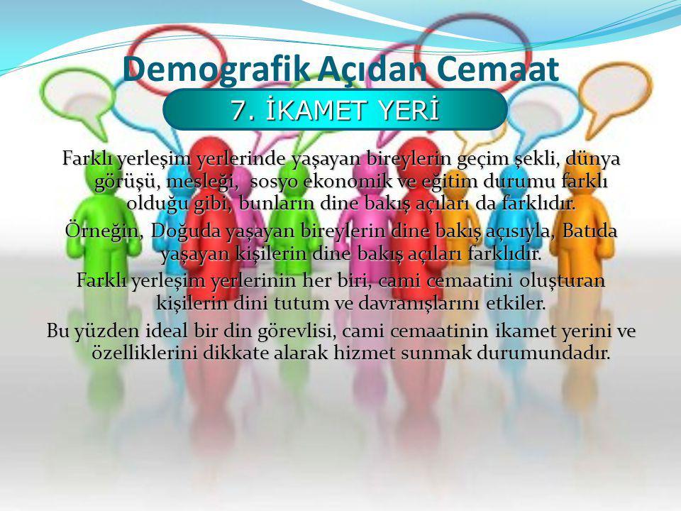 Demografik Açıdan Cemaat