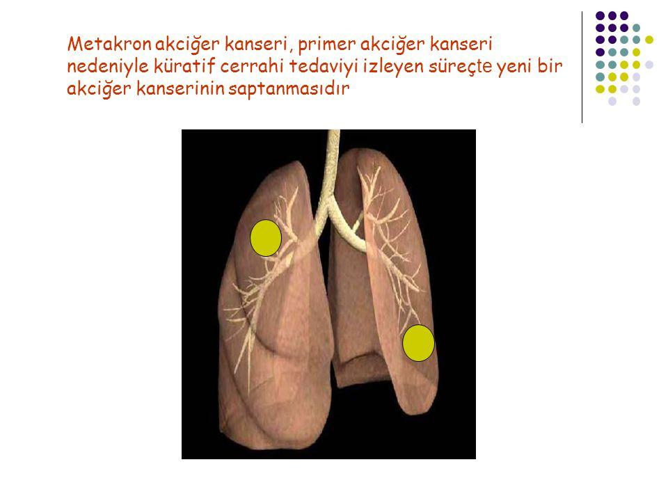 Metakron akciğer kanseri, primer akciğer kanseri nedeniyle küratif cerrahi tedaviyi izleyen süreçte yeni bir akciğer kanserinin saptanmasıdır