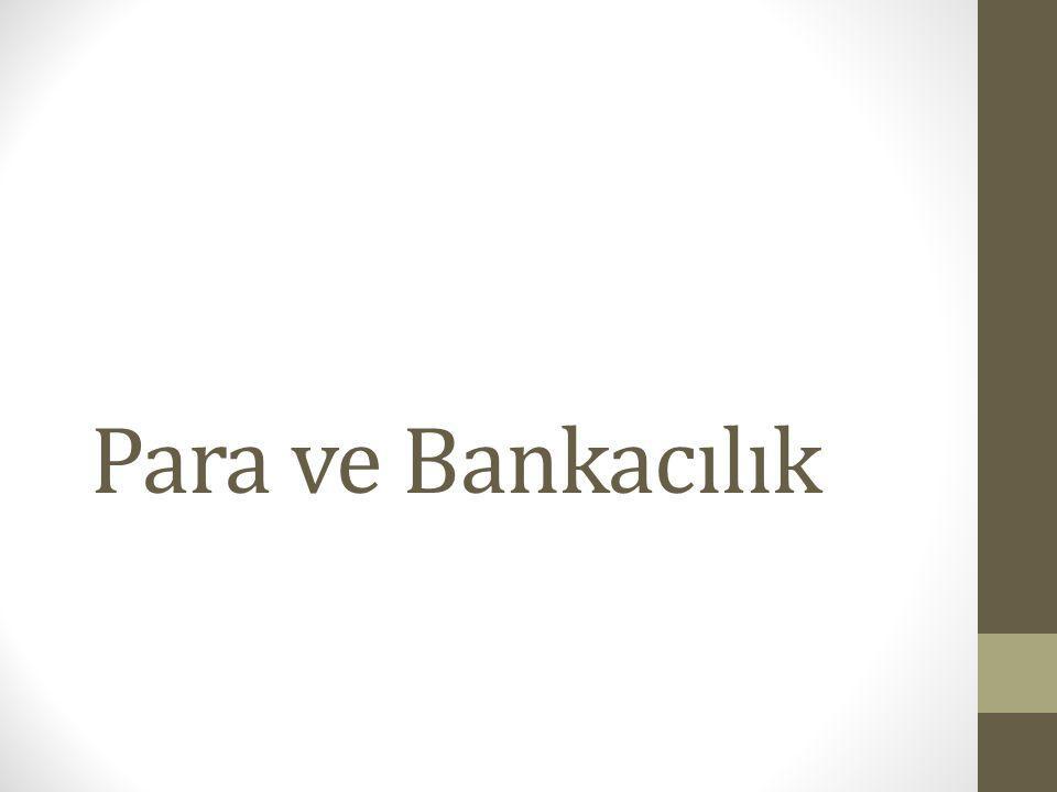 Para ve Bankacılık