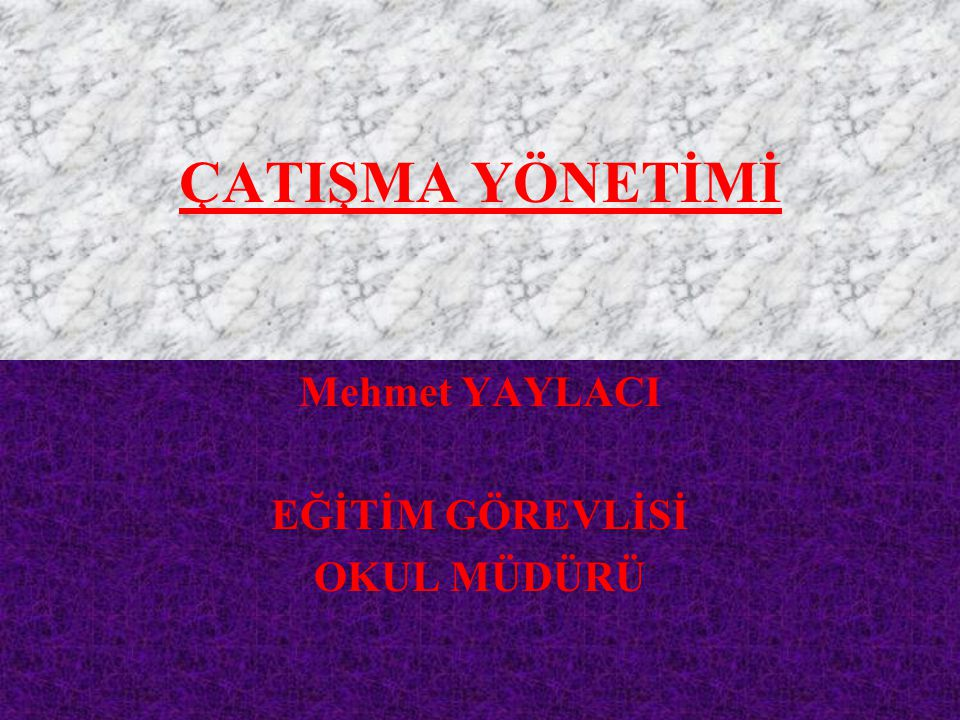 Mehmet YAYLACI EĞİTİM GÖREVLİSİ OKUL MÜDÜRÜ