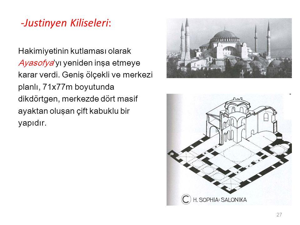 -Justinyen Kiliseleri: