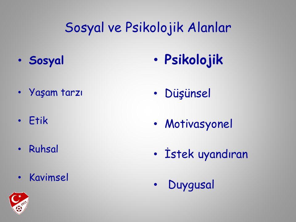 Sosyal ve Psikolojik Alanlar