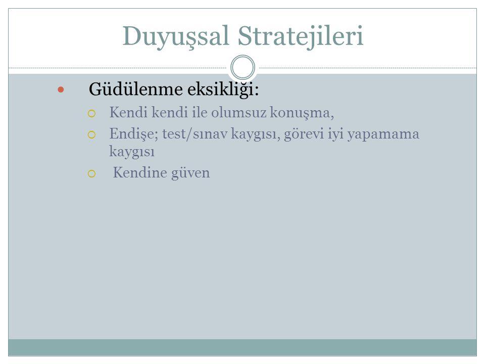 Duyuşsal Stratejileri