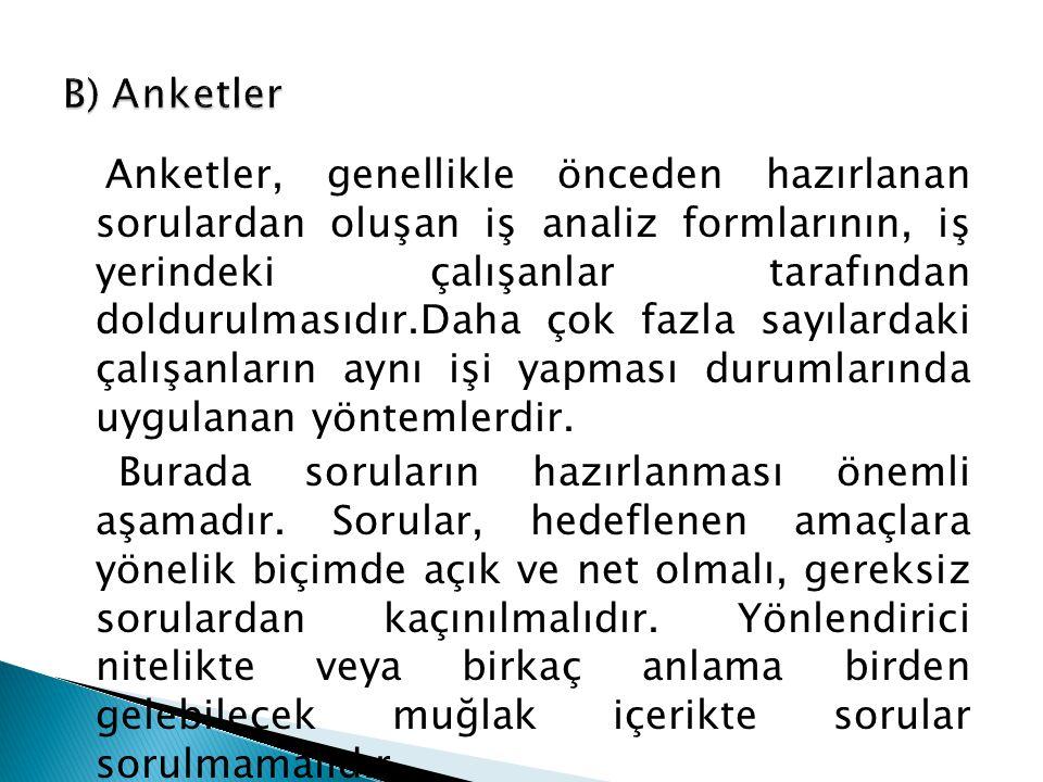 B) Anketler