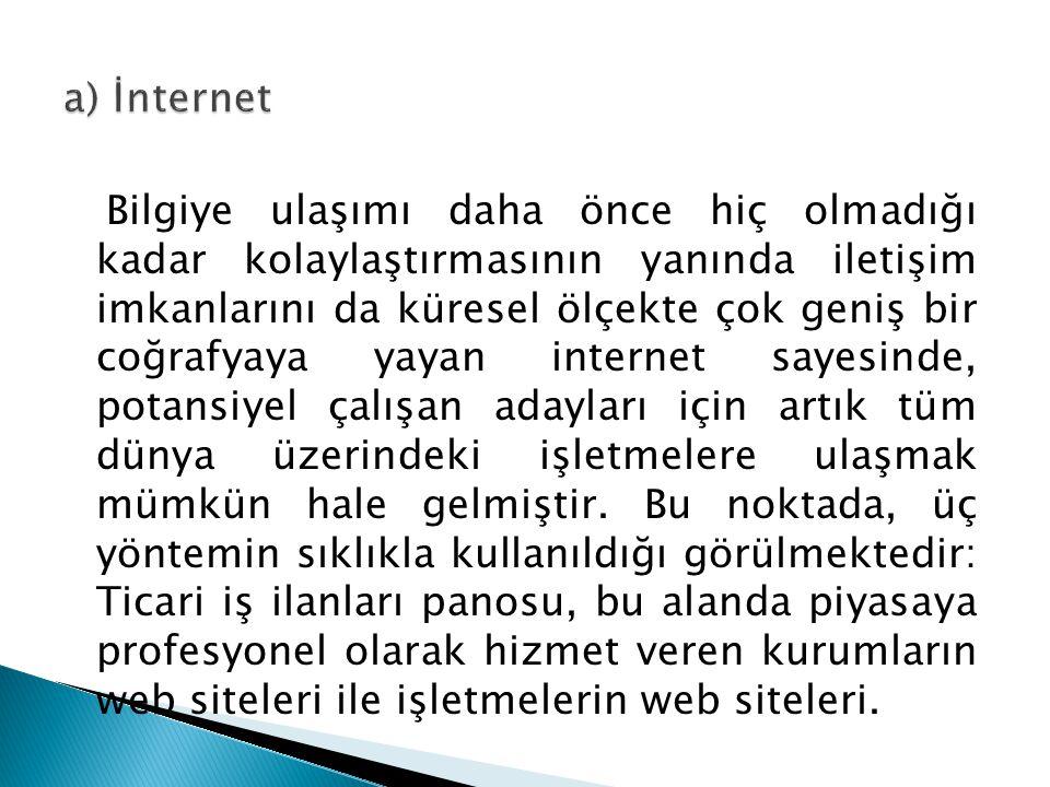 a) İnternet