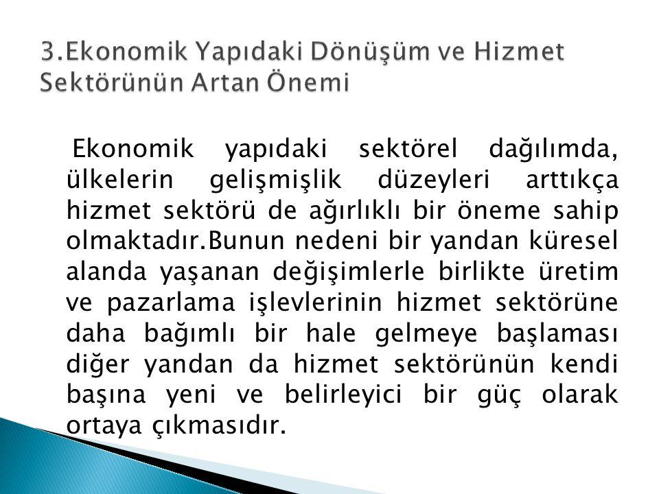 3.Ekonomik Yapıdaki Dönüşüm ve Hizmet Sektörünün Artan Önemi