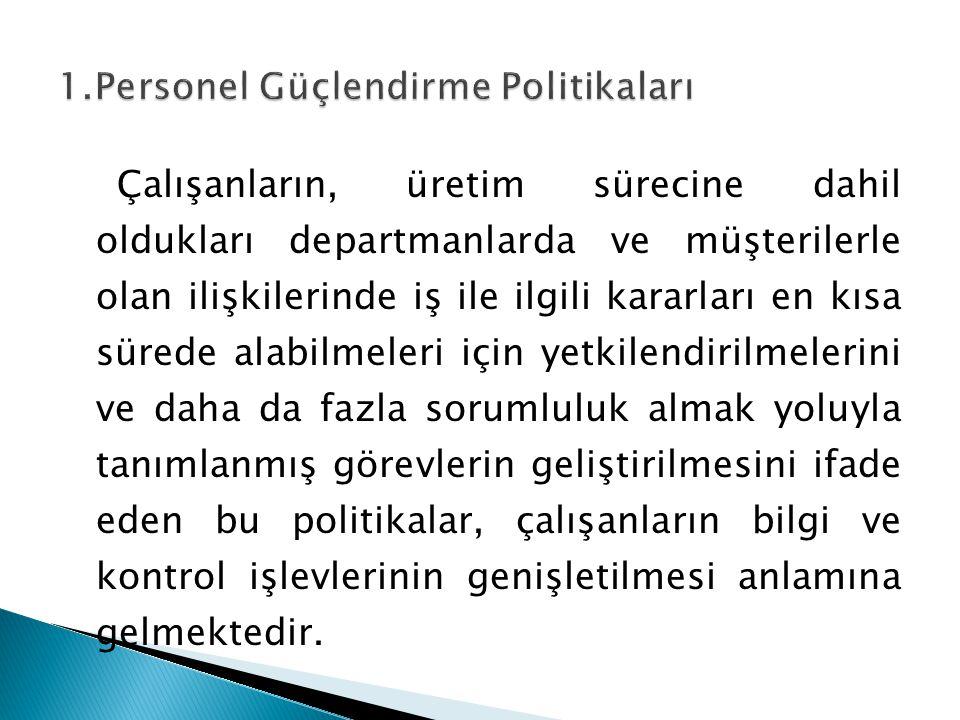 1.Personel Güçlendirme Politikaları